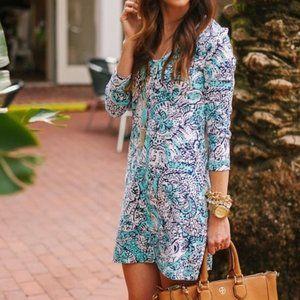 LILLY PULITZER Juliet Dress Hippy Shake Blue {K14}